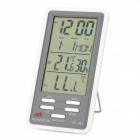 "DC802 4.1"" LCD Screen Digital Hygromete r& Thermometer w/ Clock"