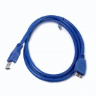 ULT-unite ULT-0218 USB 3.0 A Male to Micro B Male Hard Disk Data Connection Cable - Blue (150cm)
