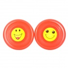 Smile Face Round ABS Kid's Flying Discs for Pet Dog / Cat - Red (2 PCS)