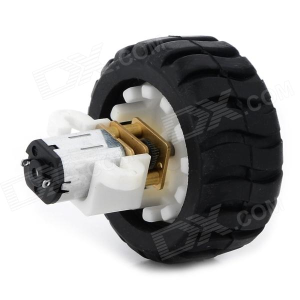 D-N20 DIY Stepping Down Motor Wheel Set for RC Cars - Black + White