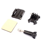 Helmet Extension Arm w/ Adhesive Mount for GoPro - Black