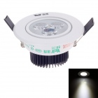 YICHENG 3W 240lm 6000K 3-LED White Light Ceiling Lamp - White + Black (220~240V)