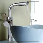 YDL-F-0520 Fashionable Bathroom Rotatable Countertop Sink Faucet - Silver
