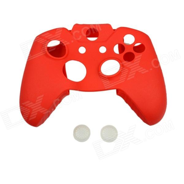 Protective Silicone Case for Xbox One Controller with Button Caps - Red protective silicone cover case for xbox 360 controller yellow blue