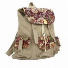Fashionable Casual Canvas Backpack - Beige White