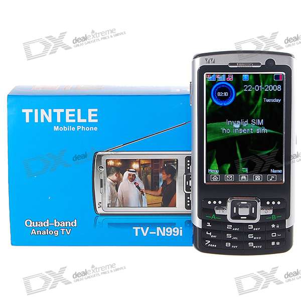 "TINTELE TV-N99i 3"" Touch Screen Dual SIM Dual Network Standby Quadband GSM TV Cell Phone"