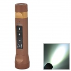 Multifunctional Music Torch Light Power Bank w/ TF / RM Radio - Brown + Golden