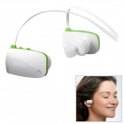 Avantree AS8 Fashionable 2-CH Bluetooth V2.1 Stereo Headset w/ Microphone - White + Green