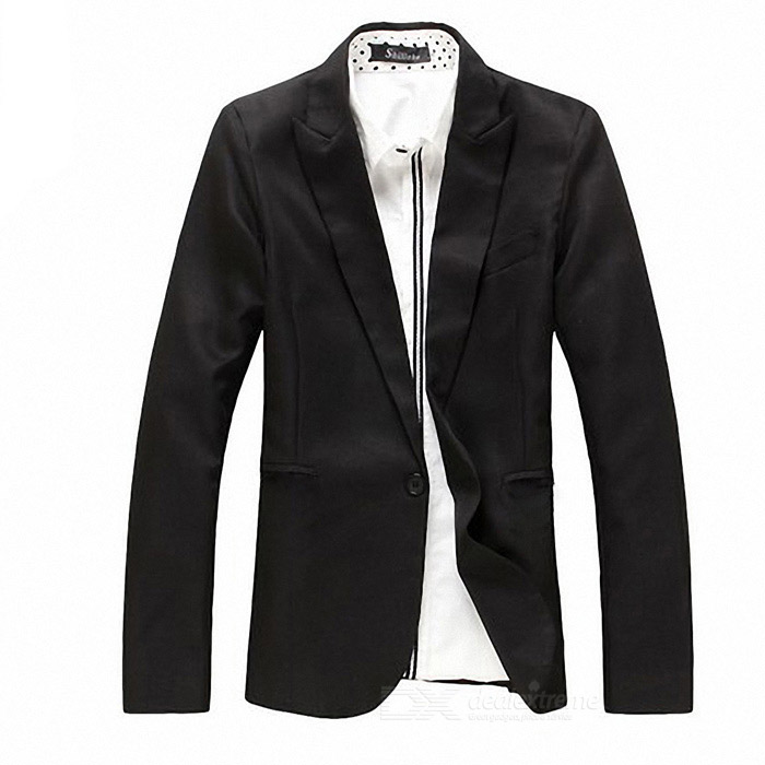 England Style Slim Fit Suit - Black (Size XL) плиты ж б толщина 10 см