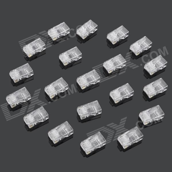 de red RJ45 engarzado tapones -translucent (20PCS)