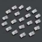 RJ45 Network Crimp Plugs -Translucent (20PCS)