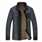 Stylish Men's Slim Mixed Colors Cotton Jacket - Navy (Size-XL)