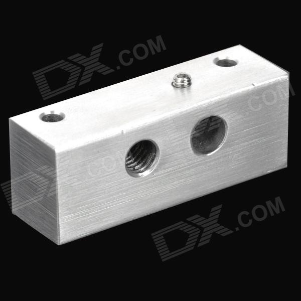 Aluminum Fixed Block for 3D Printer Makerbot - Silver 100% genuine hiwin linear guide hgr30 300mm block for taiwan