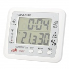 "KT202 4"" LCD Digital Indoor Thermometer / Humidity Meter - White (1 x AA)"