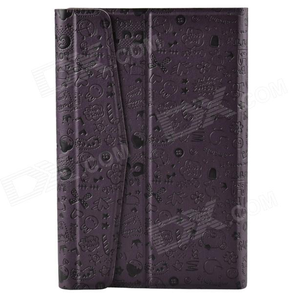 Universal Cute Faerie Pattern Protective PU Leather Case Cover Stand for 7 Tablet PC - Purple universal 61 key bluetooth keyboard w pu leather case for 7 8 tablet pc black