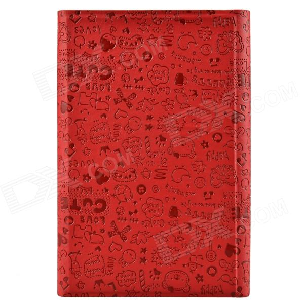 Universal Cute Faerie Pattern Protective PU Leather Case Cover Stand for 7 Tablet PC - Red universal 61 key bluetooth keyboard w pu leather case for 7 8 tablet pc black