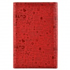 "Universal Cute Faerie Pattern Protective PU Leather Case Cover Stand for 7"" Tablet PC - Red"