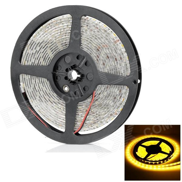 HML Waterproof 72W 6000lm 3300K 300 x SMD 5050 LED Warm White Car Decoration Light Strip -(12V / 5M) цена