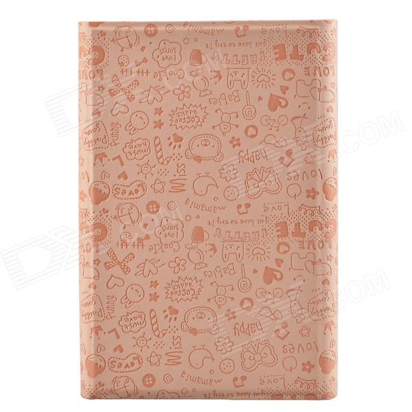 "Universal Cute Faerie Pattern Protective PU Leather Case Cover Stand for 7"" Tablet PC - Pink"