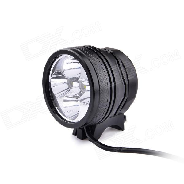 UltraFire D66-L2 5-LED 3-Mode 3000lm White Bike Light / Headlamp - Black (4 x 18650) marsing 3 led 3000lm 4 mode cool white bike light headlamp black 4 x 18650