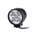 FandyFire D66-L2 5-LED 3-Mode 3000lm White Bike Light / Headlamp - Black (4 x 18650)