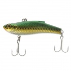 Lifelike Plastic Fish Style Fishing Bait w/ Hook - Green + Golden + White + Black