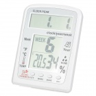 "KT201 4.5'' + 4.3"" LCD Digital Indoor / Outdoor Thermometer / Humidity Meter - White (1 x AA)"