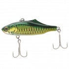 SIYUN Lifelike Plastic Fish Style Fishing Bait w/ Hook - Green + Golden + Black
