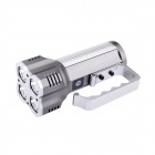 UltraFire S4 Portable 4-LED 4-Mode 2800lm White Flashlight - Grey + Silver (4 x 18650)