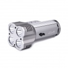 UltraFire S4-L2 Portable 4-LED 4-Mode 2500lm Flashlight - Grey + Silver (4 x 18650)