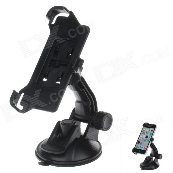 360 Degree Rotation Holder Mount Bracket w/ H80 Suction Cup for Iphone 5C - Black h08 360 rotation 4 port suction cup holder w silicone back clip for iphone 4 4s 5 ipad mini ipod