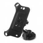 360 Degree Rotation Holder Mount w/ H17 Suction Cup + Back Clamp for Samsung Galaxy Note 2 - Black