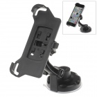 360 Degree Rotation Holder Mount w/ H17 Suction Cup + Back Clamp Bracket for Iphone 5C - Black
