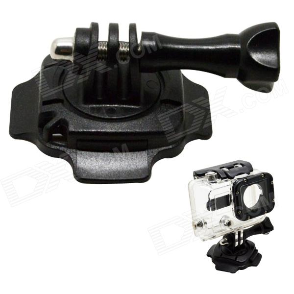 BZ92 360?? Rotation Helmet Mount w/ 3M Sticker for Gopro Hero 4/ 3+ / 3 / 2 / 1 / SJ4000 - Black цена и фото