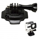 BZ92 360° Rotation Helmet Mount w/ 3M Sticker for Gopro Hero 3+ / 3 / 2 / 1 / SJ4000 - Black