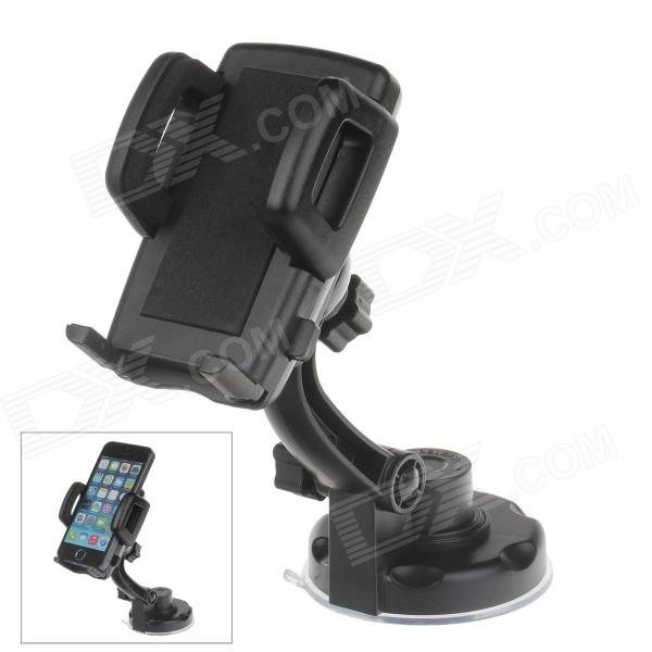 360 Degree Rotation Holder Mount w/ H17 Suction Cup + C47 Back Clamp for Mobile Phone - Black 360 degree rotation holder mount w h17 suction cup c46 back clamp for mobile black