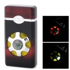YY-8 Dual Flame Windproof Refueling Lighter w/ Built-in Compass + LED + Music - Deep Red + Black