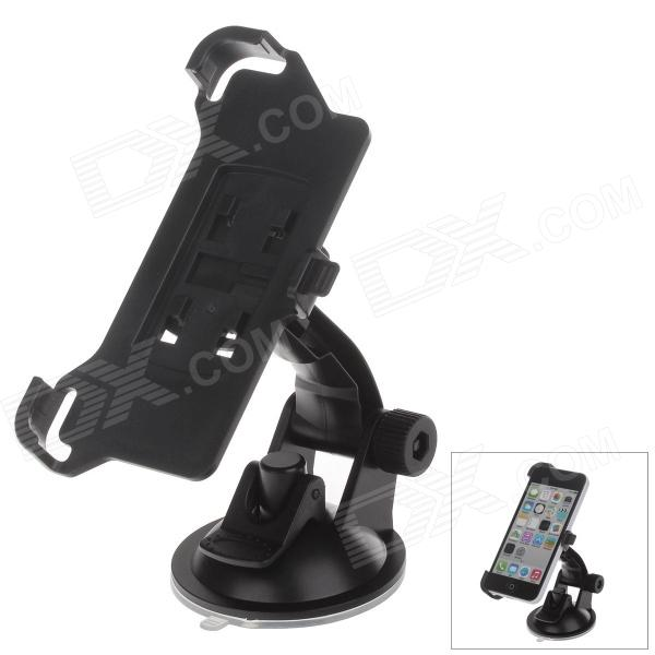 360 Degree Rotation Holder Mount Bracket w/ H01 Suction Cup for Iphone 5C - Black h08 360 rotation 4 port suction cup holder w silicone back clip for iphone 4 4s 5 ipad mini ipod