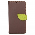 S-112 Protective Flip Cover PU Leather Case w/ Strap for Samsung Galaxy Note 3 N9000 - Coffee