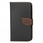S-112 Protective Flip Cover PU Leather Case w/ Strap for Samsung Galaxy Note 3 N9000 - Black