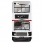 Retro Double-decker Bus Patterned Protective Plastic Back Case for Iphone 5 - Multicolored