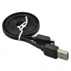 USB 2.0 Male to Micro USB 9-Pin Male Data Sync / Charging Cable for Samsung Galaxy Note 3 - Black