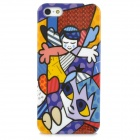 Stylish Cartoon Patterned Plastic Back Case for Iphone 5 - Multicolored