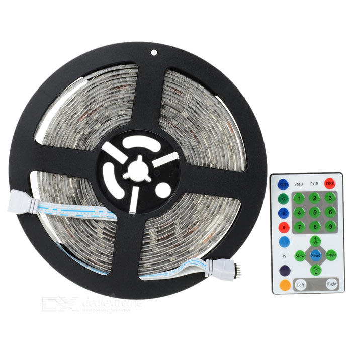 Impermeable 54W 4860lm 270 x SMD 5050 LED RGB decoración luz tira - Negro (DC 12V / 5M)