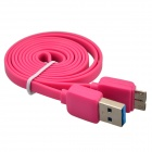 USB 2.0 Male to Micro USB 9-Pin Male Data Sync / Charging Cable for Samsung Galaxy Note 3 -Deep Pink