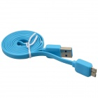 USB 2.0 Male to Micro USB 9-Pin Male Data Sync / Charging Cable for Samsung Galaxy Note 3-Light Blue