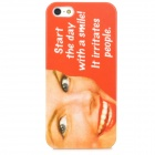 Stylish Patterned Plastic Back Case for Iphone 5 - Red