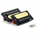 Humbucking Pickup Humbucker Set for Electric Guitar - Black + Yellow (1 Pair)