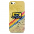Retro Tape Cassette Pattern Plastic Back Case for Iphone 5 - Green