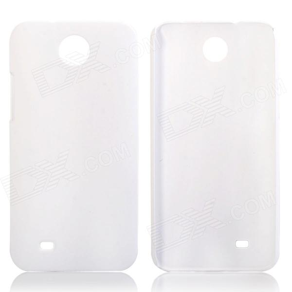 Fashionable Super Thin Protective Glaze PC Back Case for HTC Desire 300 - White